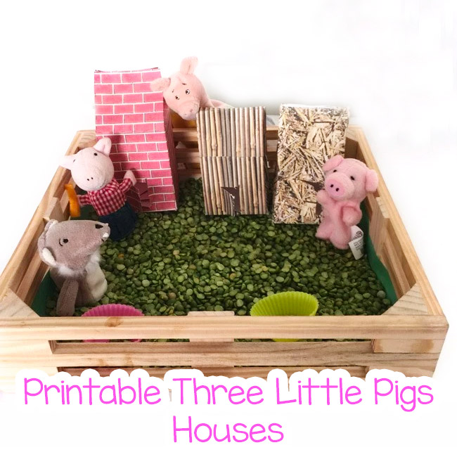 Three Little Pigs Printable Houses