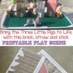 Bring the story of the Three Little Pigs to life with this wonderful play scene of printable brick, straw and stick houses. This is a wonderful activity for story time and enhances storytelling.