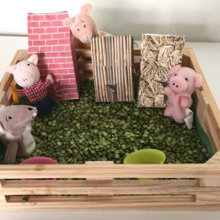 Printable 3 Little Pigs Houses Template Activity Play Set