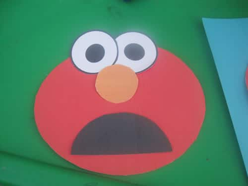 image about Printable Elmo Face referred to as Printable Elmo Craft Reduce and Paste