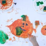 Happy/Sad Pumpkin Finger Painting