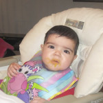 Aaliya started her first solids! Six months old Update