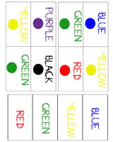 graphic relating to Printable Colors known as Bingo Shades Printable - Pleasurable with Mama