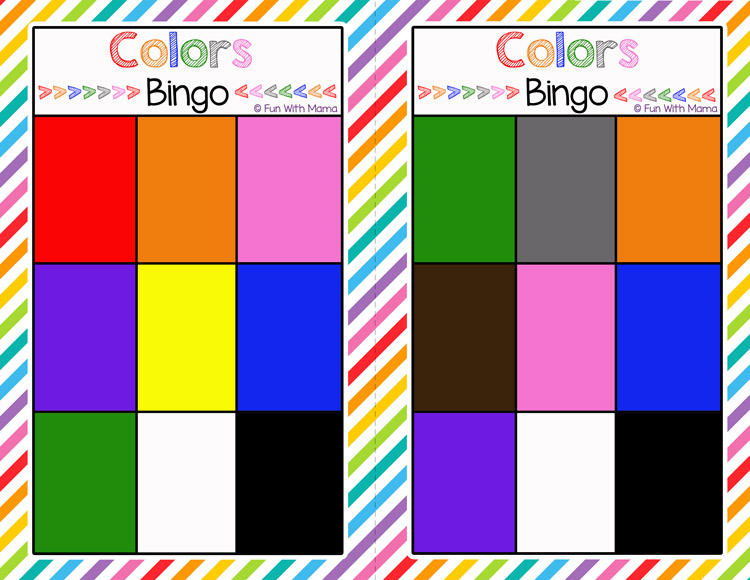 picture regarding Printable Colors identify Bingo Colours Printable - Enjoyment with Mama