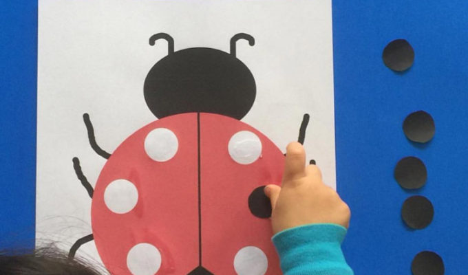 Ladybug Cut and Paste Activity + Printable