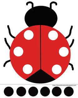picture relating to Printable Ladybug identified as Ladybug Minimize and Paste Match + Printable - Entertaining with Mama