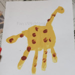 Giraffe Handprint and Tunnel Fun!