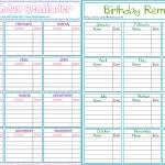 Birthday Reminder Printable