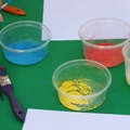 Thumbnail image for Liquid Starch and Powder Paint Fun