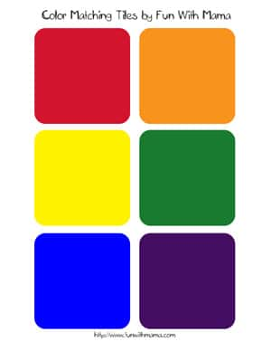 color match game tiles printable - Printable Color