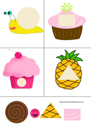 Cupcake Cut And Paste Printable Practice Fun With Mama