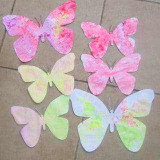Finger Paint Butterfly Craft + Butterfly Printable