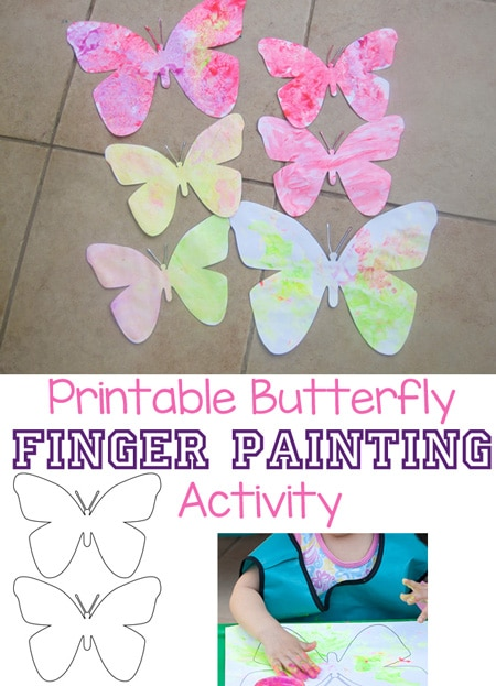 Finger Paint Butterfly Craft Butterfly Printable Fun With Mama
