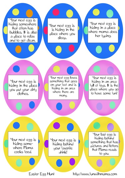 easter scavenger hunt easter scavenger hunt clues egg hunt clues1small ...