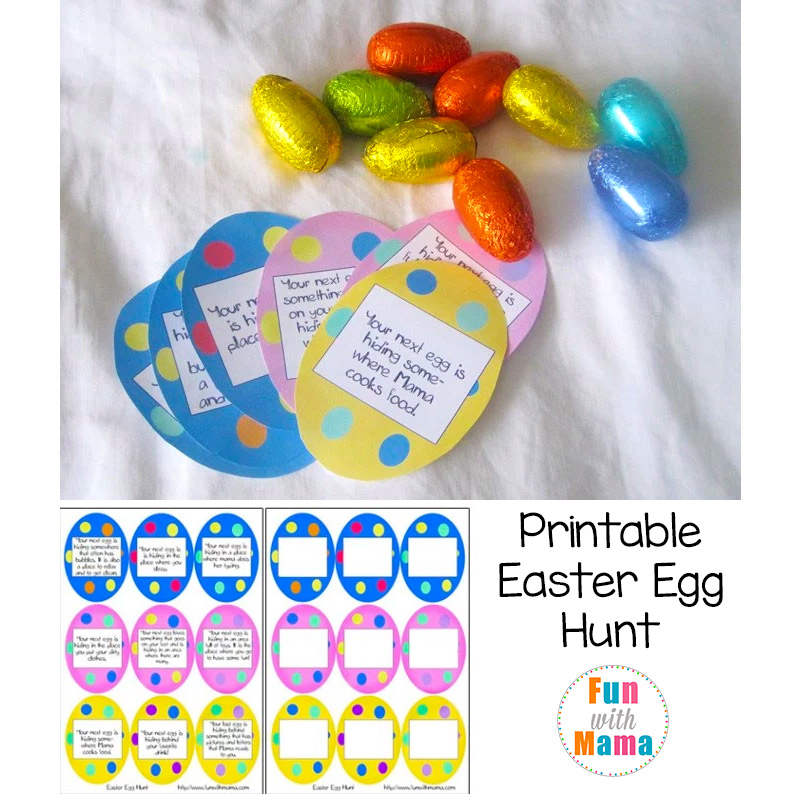 photo regarding Letter From Easter Bunny Printable called Printable Easter Egg Hunt Designs + Clues - Enjoyable with Mama