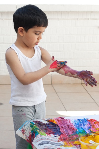 how does painting help a child's intellectual development