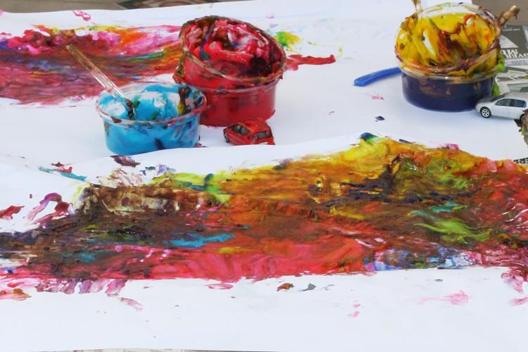finger painting cognitive development