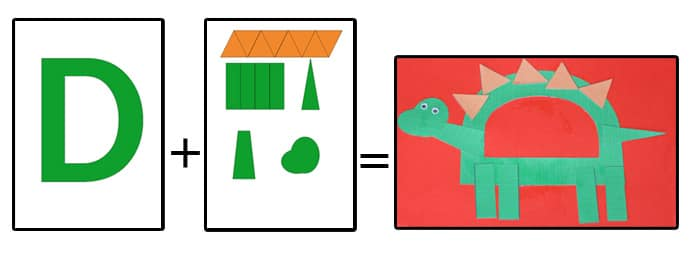 graphic relating to Printable D&d Miniatures identified as Printable Letter D Crafts D is for Dinosaur - Enjoyment with Mama