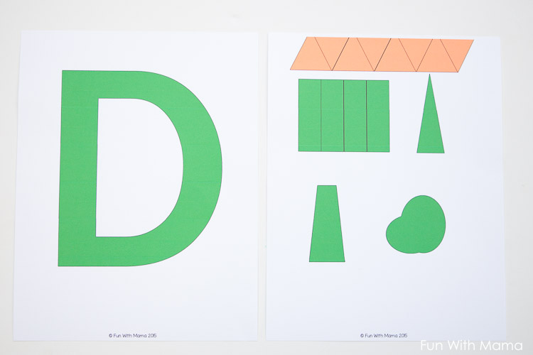 Letter D Dinosaur Craft Template