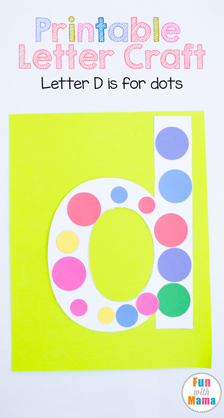 photo regarding Letter D Printable titled Printable Letter D Crafts D is for Dots - Entertaining with Mama
