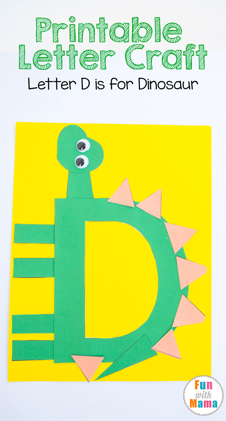 letter alphabet crafts printable letter d crafts d is for dinosaur with 6932