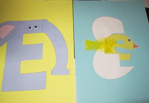 letter e crafts and printable letter e activities