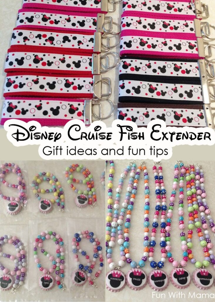 Disney Cruise fish extender gift ideas for kids and for adults, how to join a fish extender group, diy ideas and more