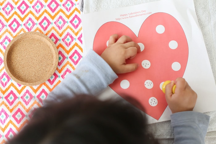 Toddler fine motor skills push pin activity