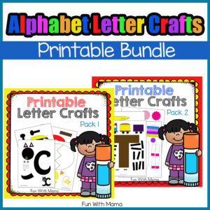 printable alphabet letter crafts for preschool prek and kindergarten kids