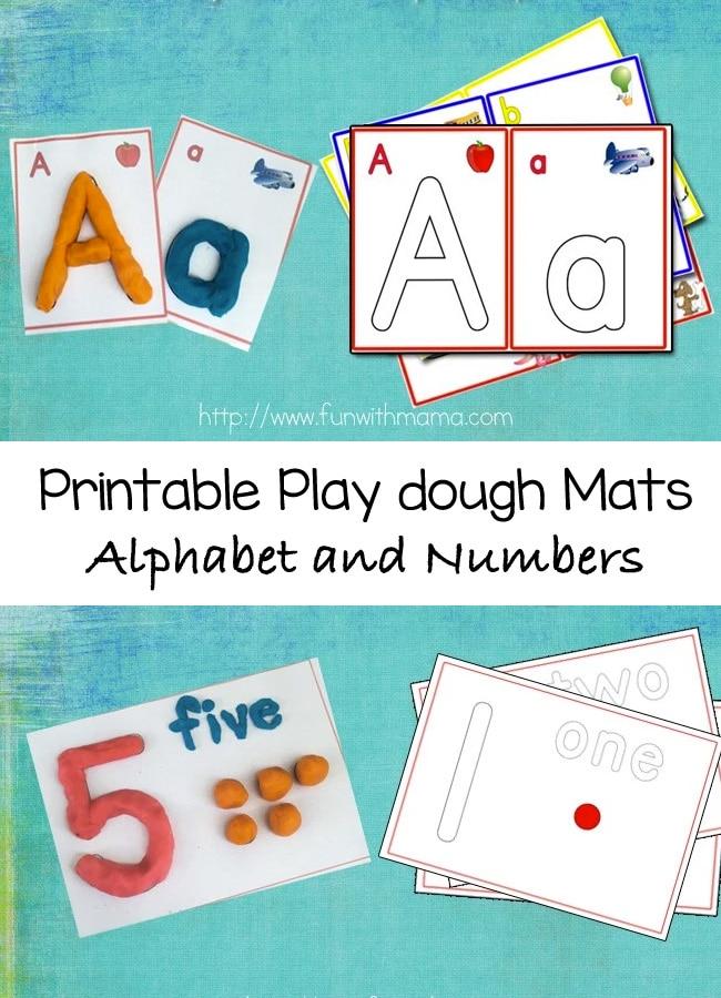 alphabet-number-play-dough-mats