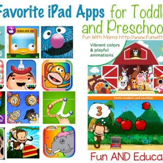 iPad For Kids: Favorite Educational Apps for toddlers preschoolers and 1, 2, 3, and 4 year olds
