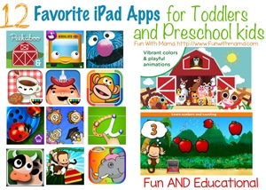 Thumbnail image for iPad For Kids: Favorite Educational Apps for toddlers preschoolers and 1, 2, 3, and 4 year olds