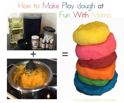 how to make playdough at home