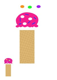 i for ice cream printable letter activity