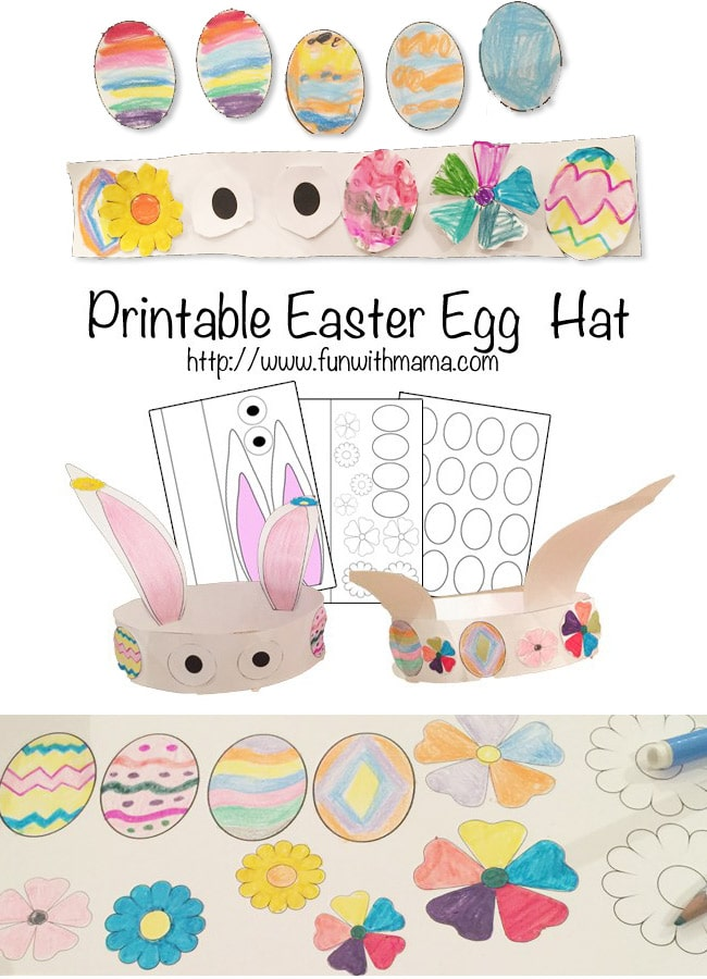 image about Printable Easter Craft named Bunny Hat Easter Crafts For Young children - Exciting with Mama