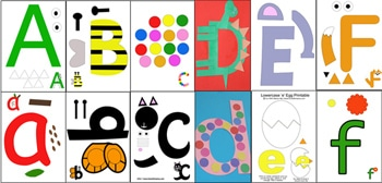 Thumbnail image for Printable Letters A to F Activities
