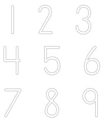 numbers puffy paint printable activity