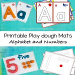 Alphabet Letter Play Dough Mats, Numbers, and Arabic Numbers
