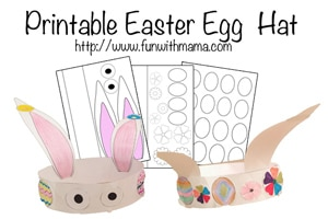 easter bunny hat template - printable kids and toddler activities fun with mama