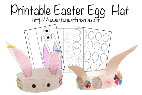 picture about Easter Bunny Printable Template referred to as Printable Easter Egg And Bunny Hat - Pleasurable with Mama