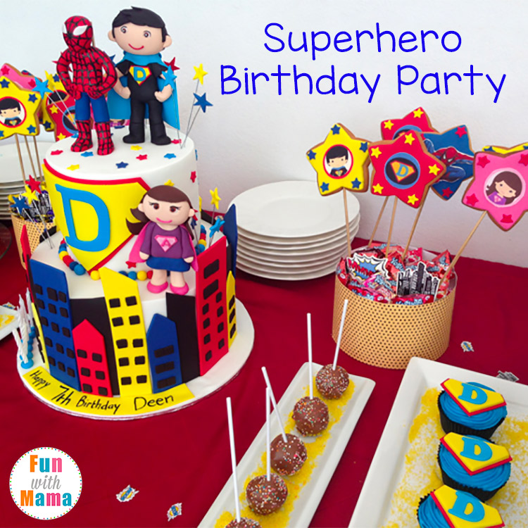 super hero birthday party ideas