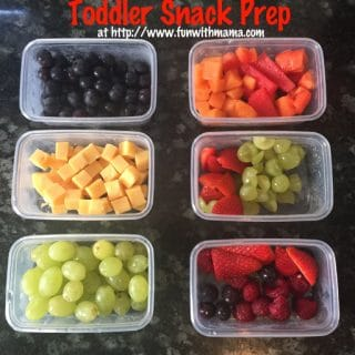 toddler snack prep on the go