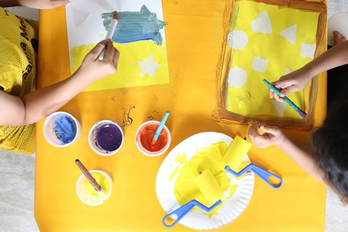 preschool shapes painting