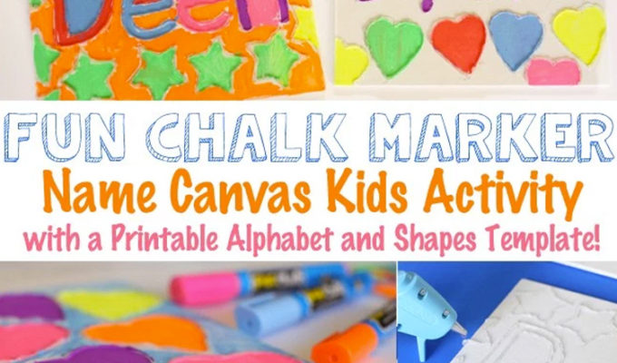 Canvas Name Art Craft for Kids