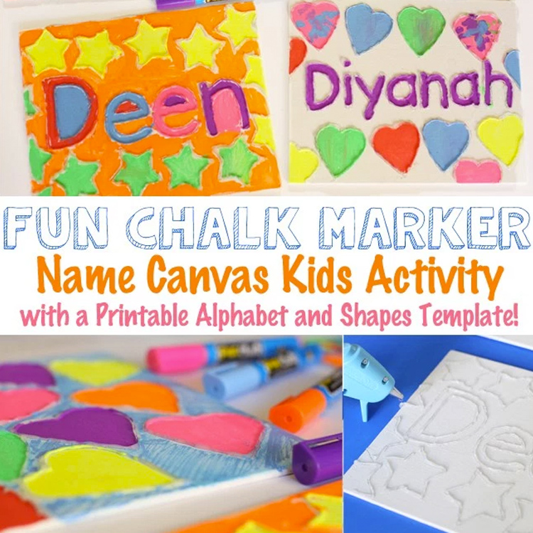 canvas-name-art-crafts-for-kids