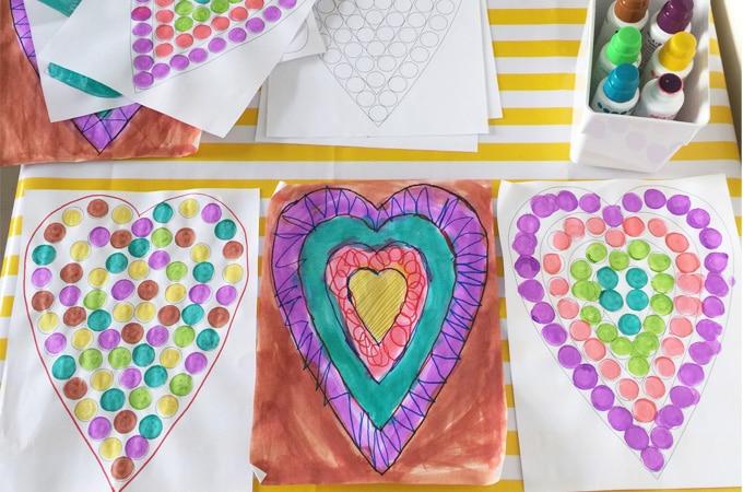 Printable Toddler Hearts Shape Preschool Activity