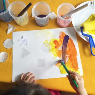 Toddler Preschool Shapes Resist Painting Activity