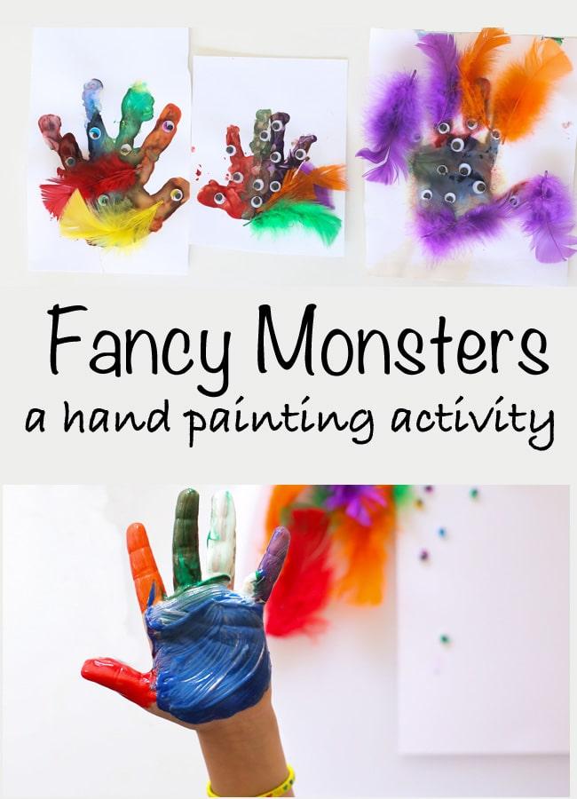 hand prints finger paint
