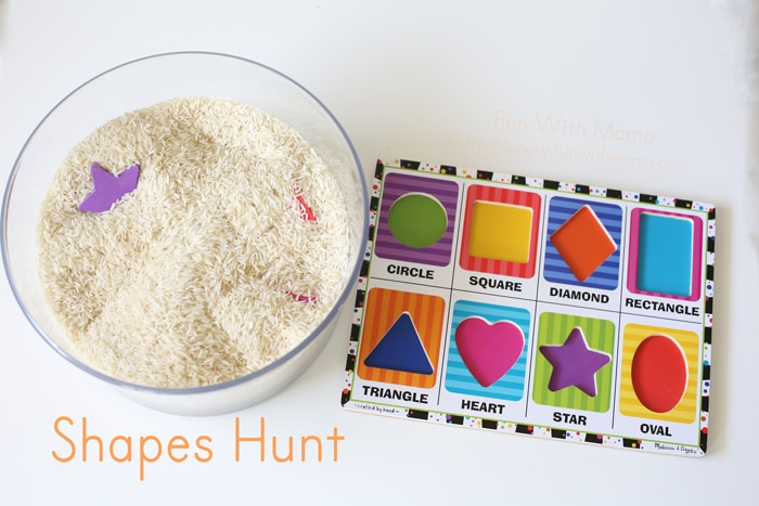 Preschool Shapes Activity Hunt