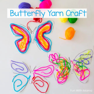 Butterfly Yarn Activity